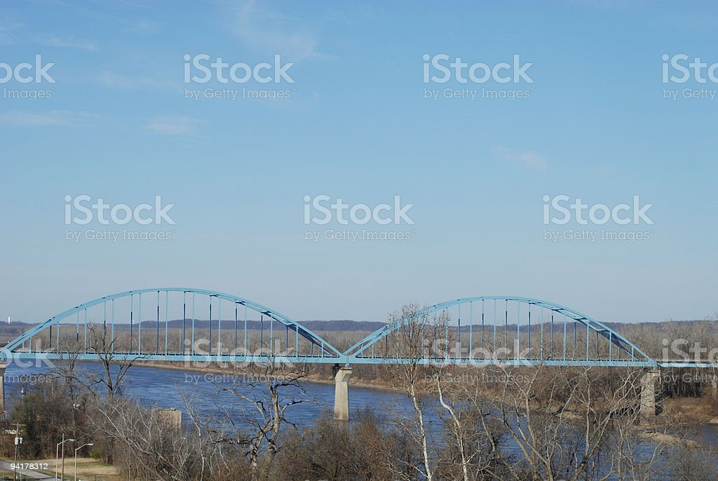 Late Autumn Along the Missouri River royalty-free stock photo
