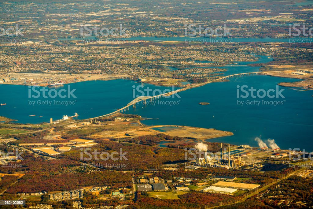 Late autumn of Baltimore from the sky royalty-free stock photo