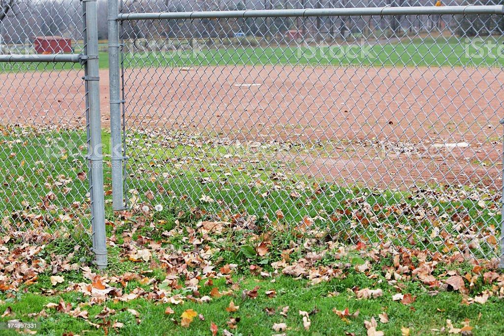 Late Autumn Softball Field royalty-free stock photo