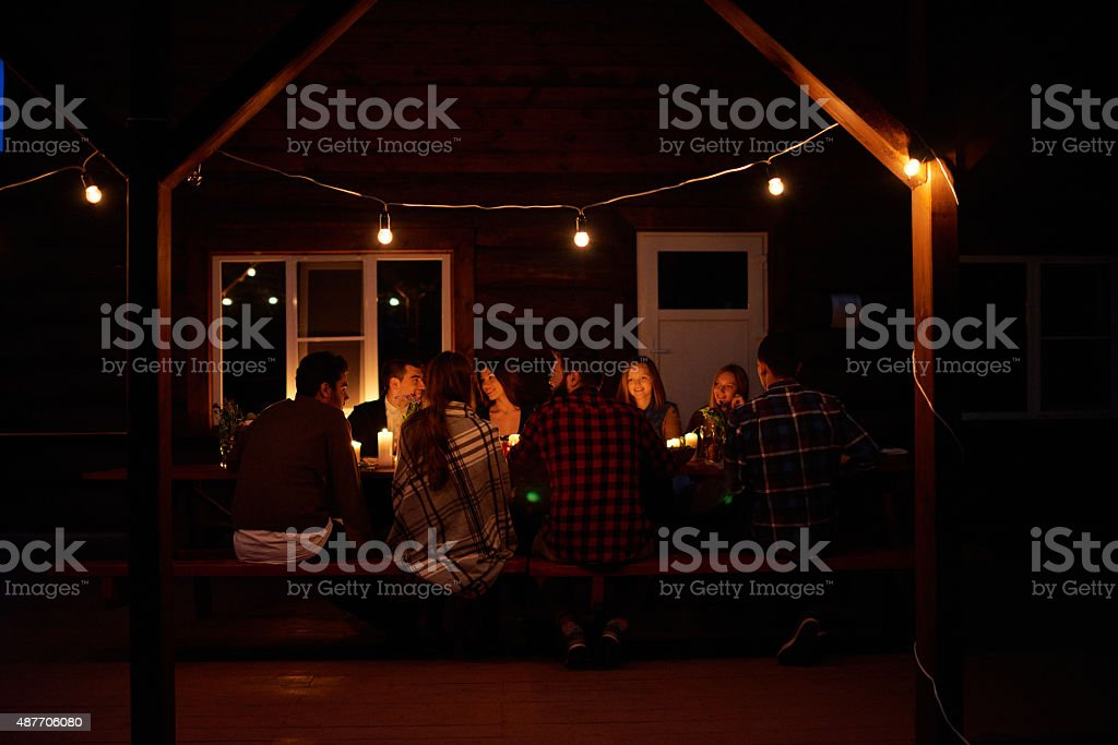 Late dinner stock photo