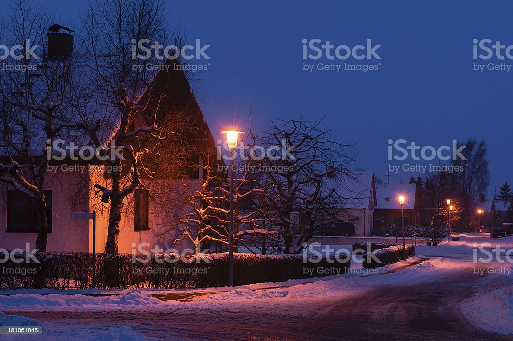 late evening royalty-free stock photo