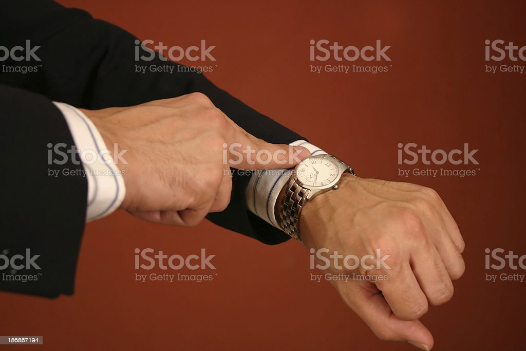 Late for the Meeting stock photo