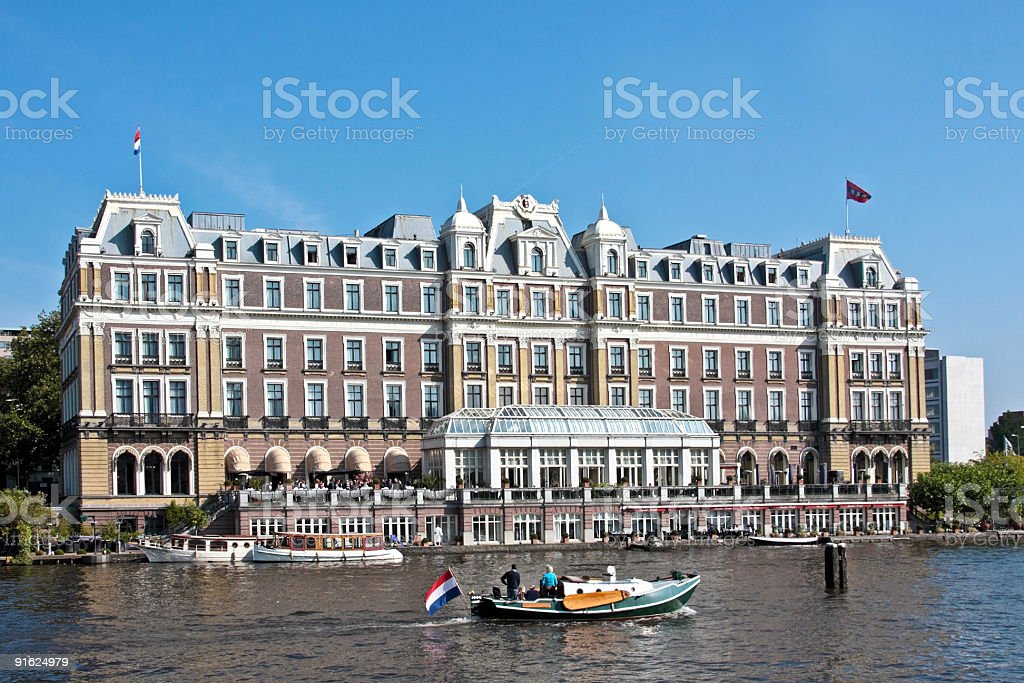 Late medieval building in Amsterdam Netherlands royalty-free stock photo