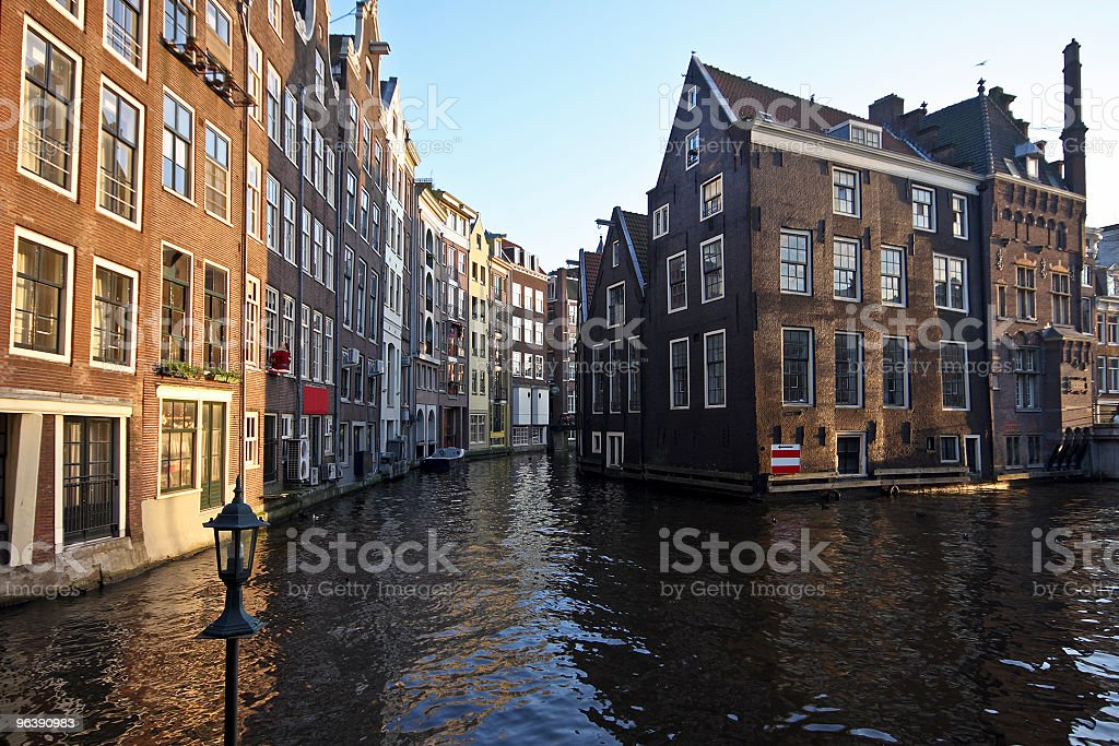 Late medieval houses in Amsterdam city the Netherlands - Royalty-free Amsterdam Stock Photo