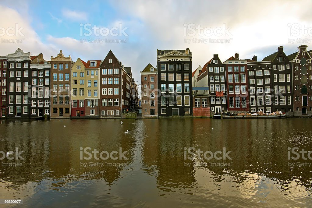 Late medieval houses in Amsterdam the Netherlands - Royalty-free Amsterdam Stock Photo