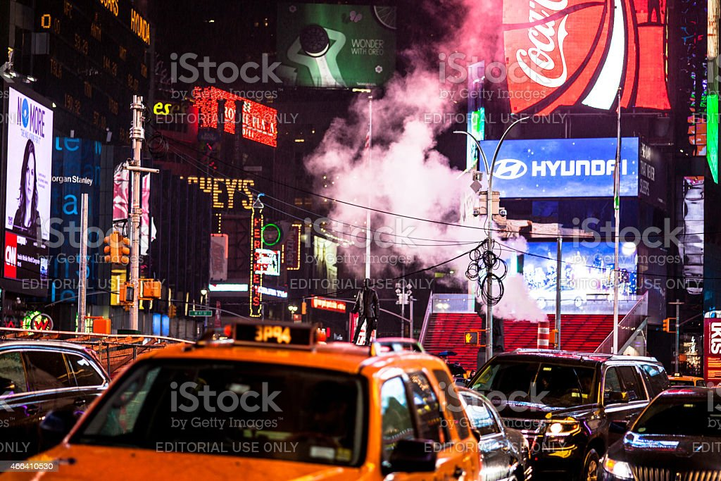 Late night at Times Square NYC stock photo