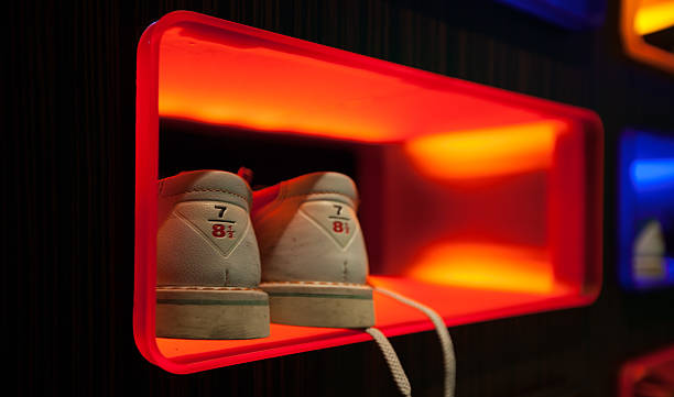 Late Night Bowling Shoes stock photo