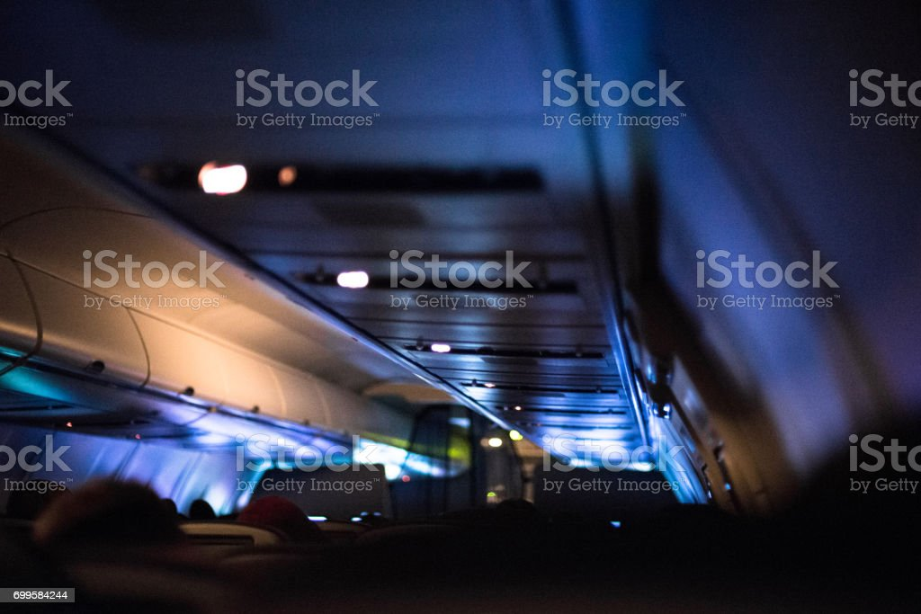 Late Night Flight stock photo