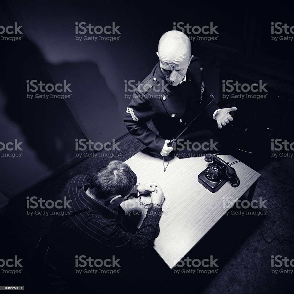 Late night interrogation royalty-free stock photo