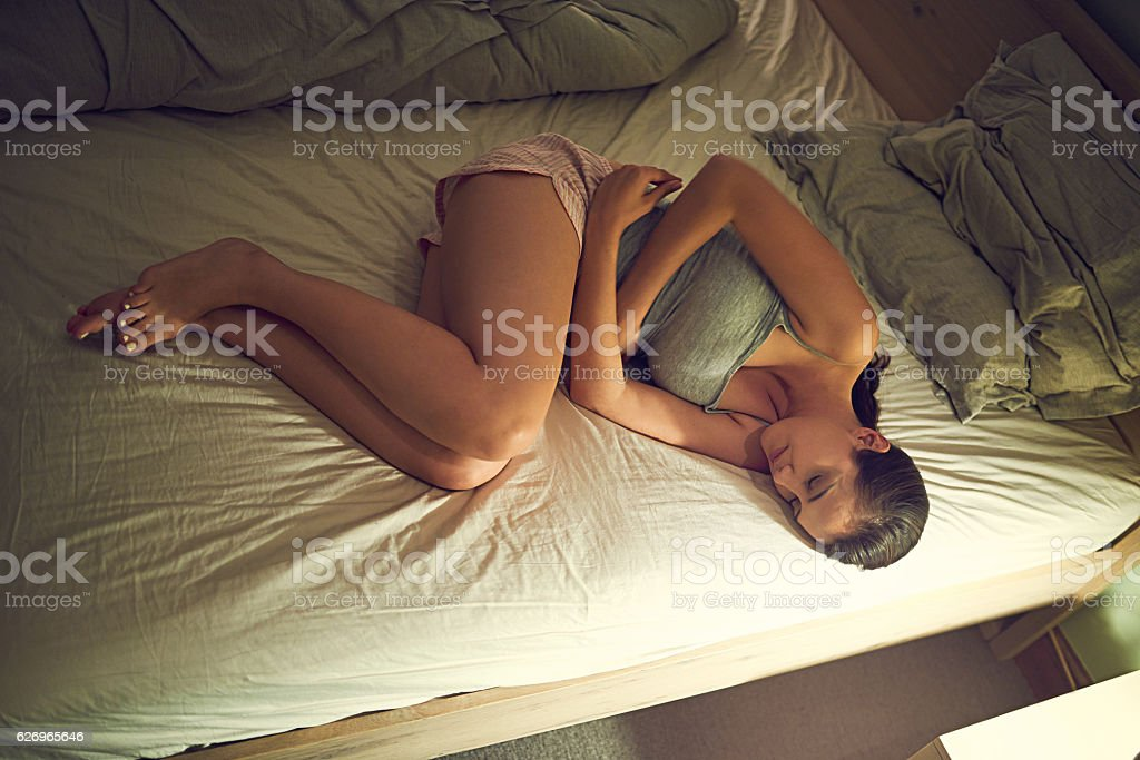 Late night pains stock photo
