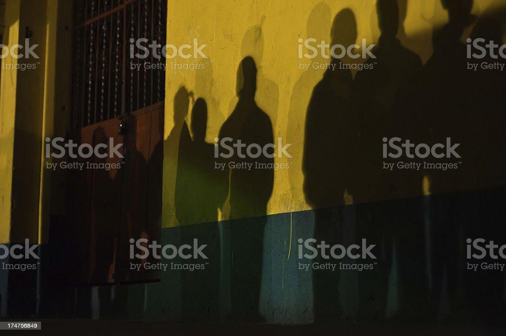 late night queue royalty-free stock photo