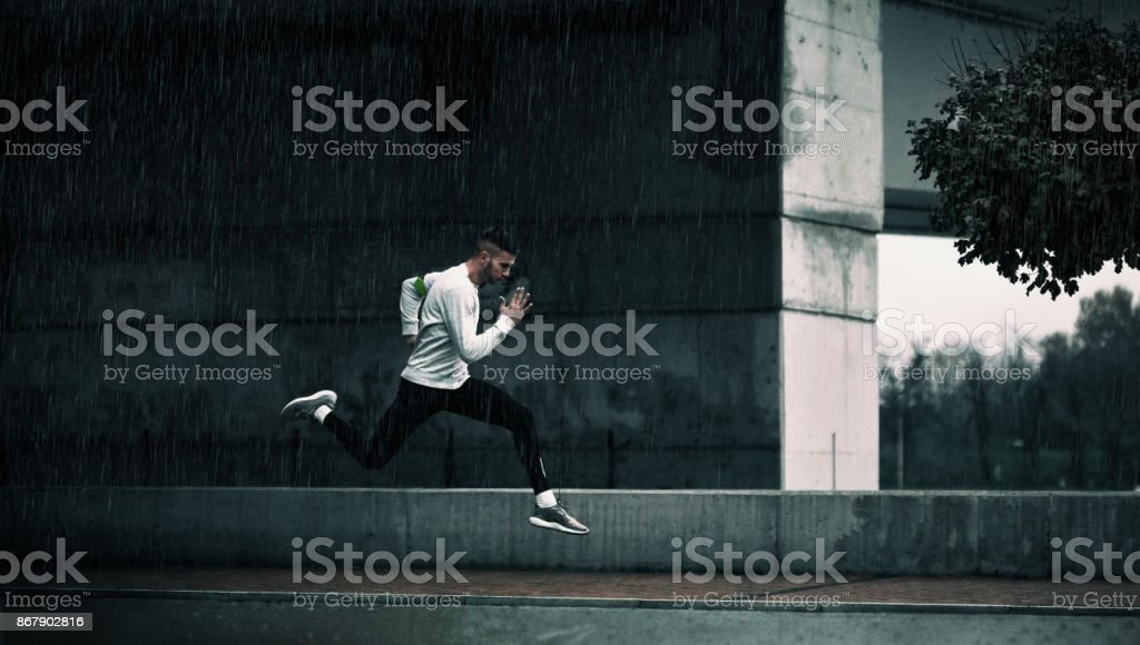 Late run stock photo