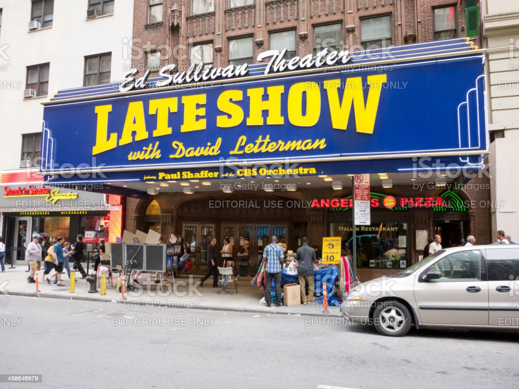 Late Show David Letterman at Ed Sullivan Theater stock photo