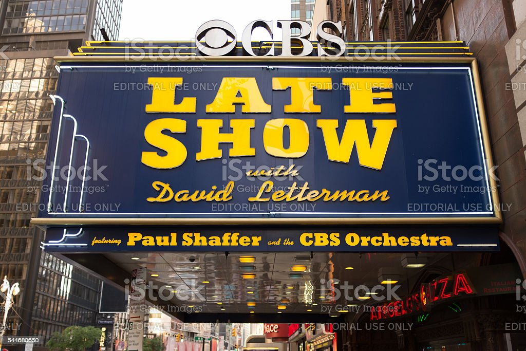 2014 Late Show with David Letterman Marque stock photo