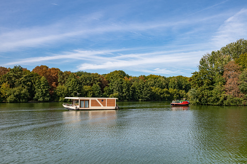 late summer blues on the Spree river in Berlin