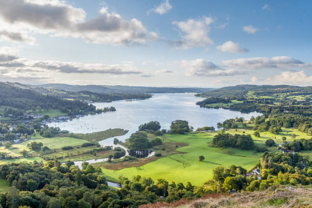 A Late Summer English Lake district View. stock photo