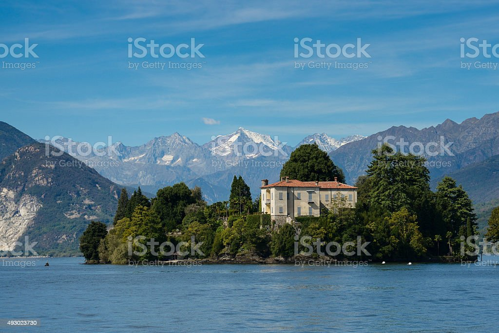 Late summer on Maggiore lake stock photo