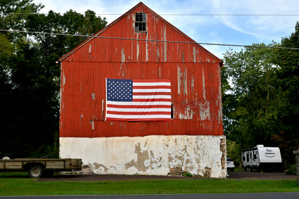 Late Summer Sunday Road Trip in Rural Pennsylvania stock photo