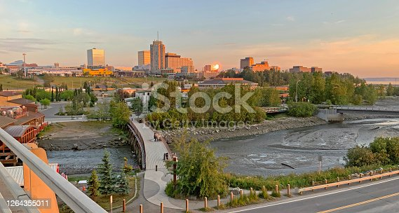 istock Late Sunset in the Last Frontier City of Anchorage Alaska 1264355011
