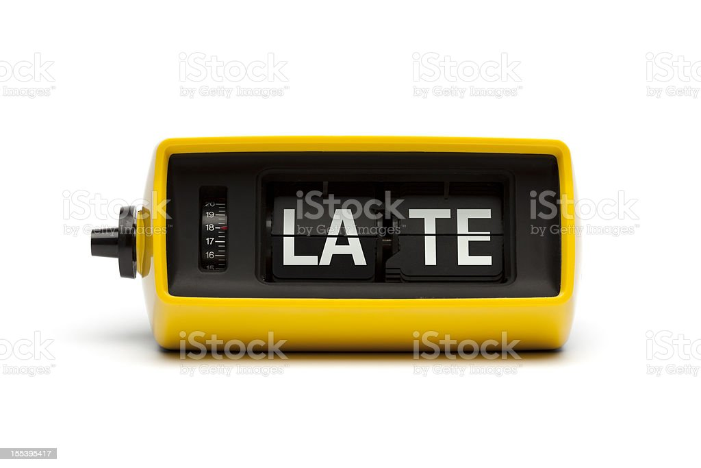 Late - Time Clock Humor stock photo