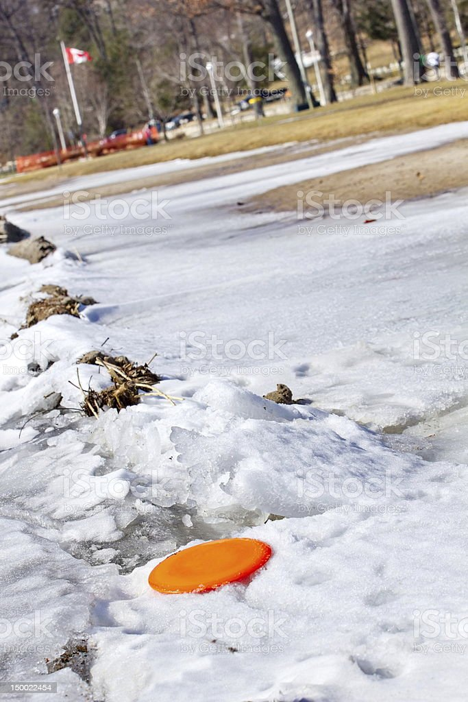 Late Winter, Early Spring, Disk Golf Game royalty-free stock photo