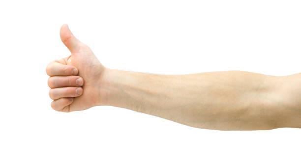 親指を立てる ストックフォト