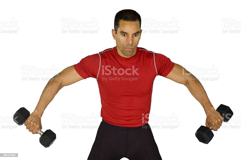 Lateral Raise stock photo