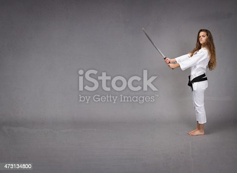 497607484 istock photo lateral viewing for a karate girl 473134800