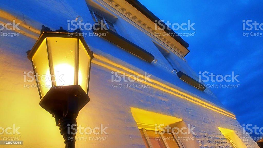 Laterne Im Abendlicht - Lizenzfrei Abenddämmerung Stock-Foto