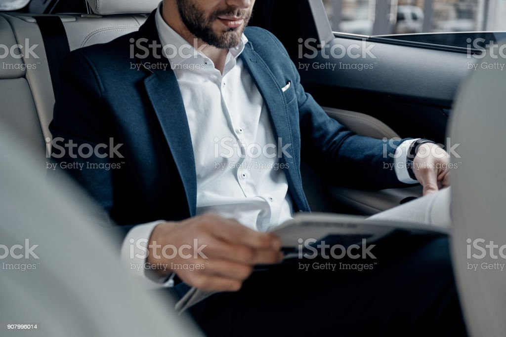 Latest business news. stock photo