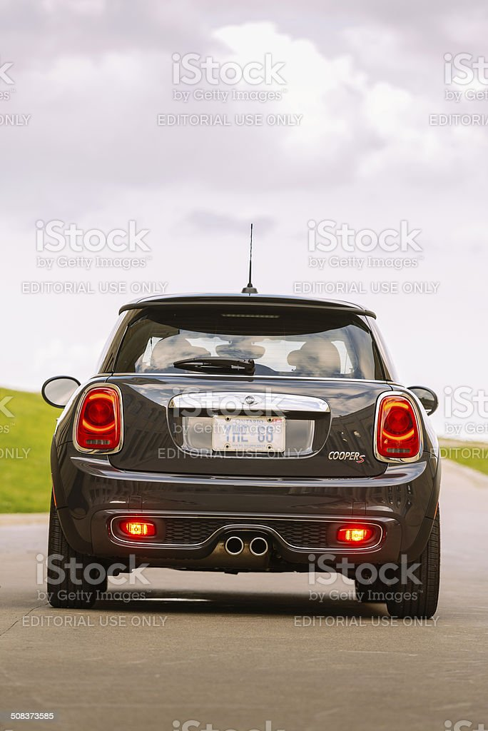 Latest generation Mini Cooper S royalty-free stock photo