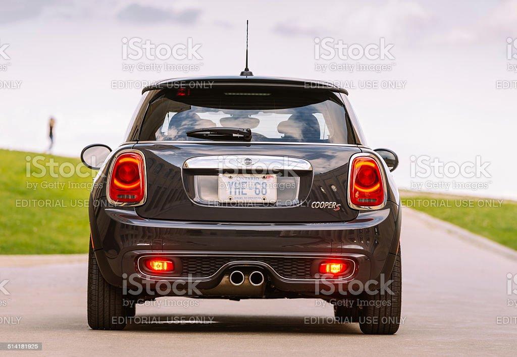 Latest generation Mini Cooper S stock photo