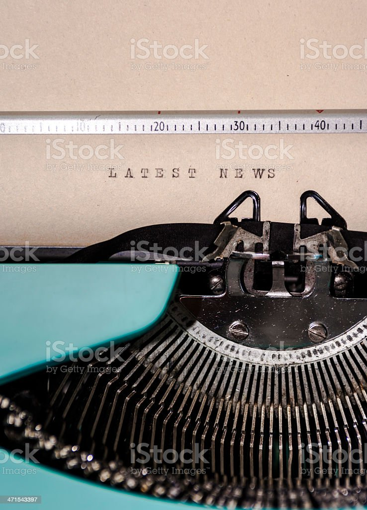 Latest News royalty-free stock photo