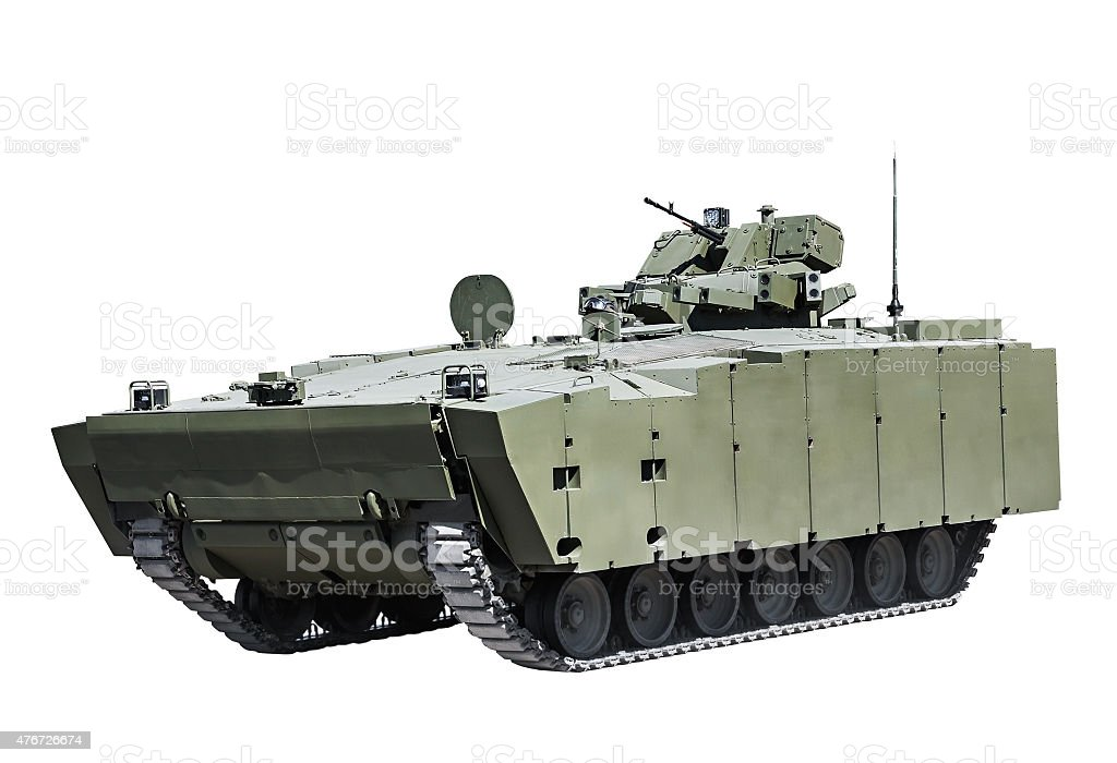 latest Russian infantry fighting vehicle stock photo