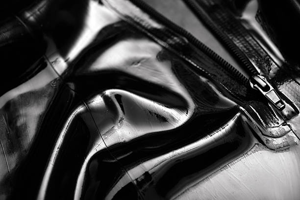 latex abstract pants with zipper, macro - latex stock pictures, royalty-free photos & images
