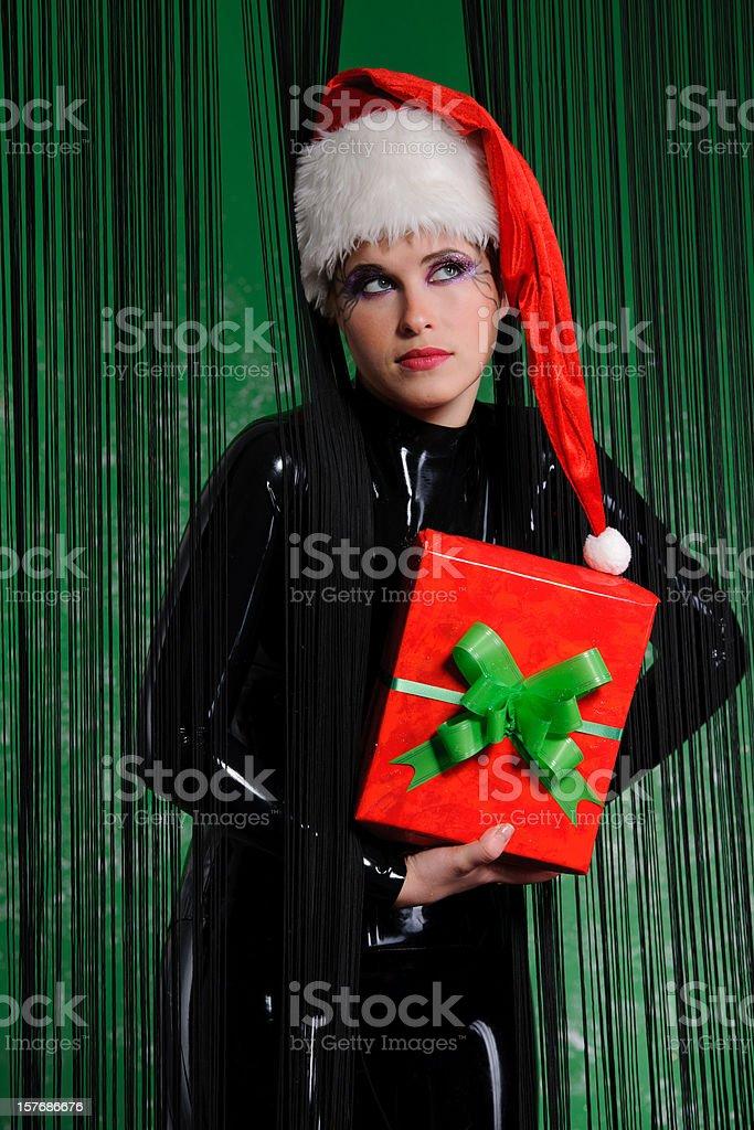 latex and christmas gift royalty-free stock photo