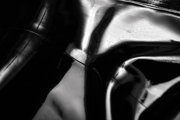 latex texture, black color stock photo