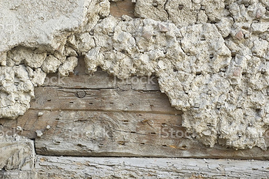 lath - grunge old wall royalty-free stock photo