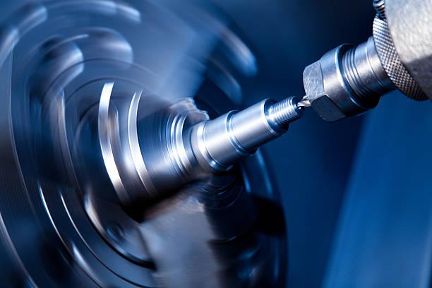 CNC Drehmaschine drilling – Foto