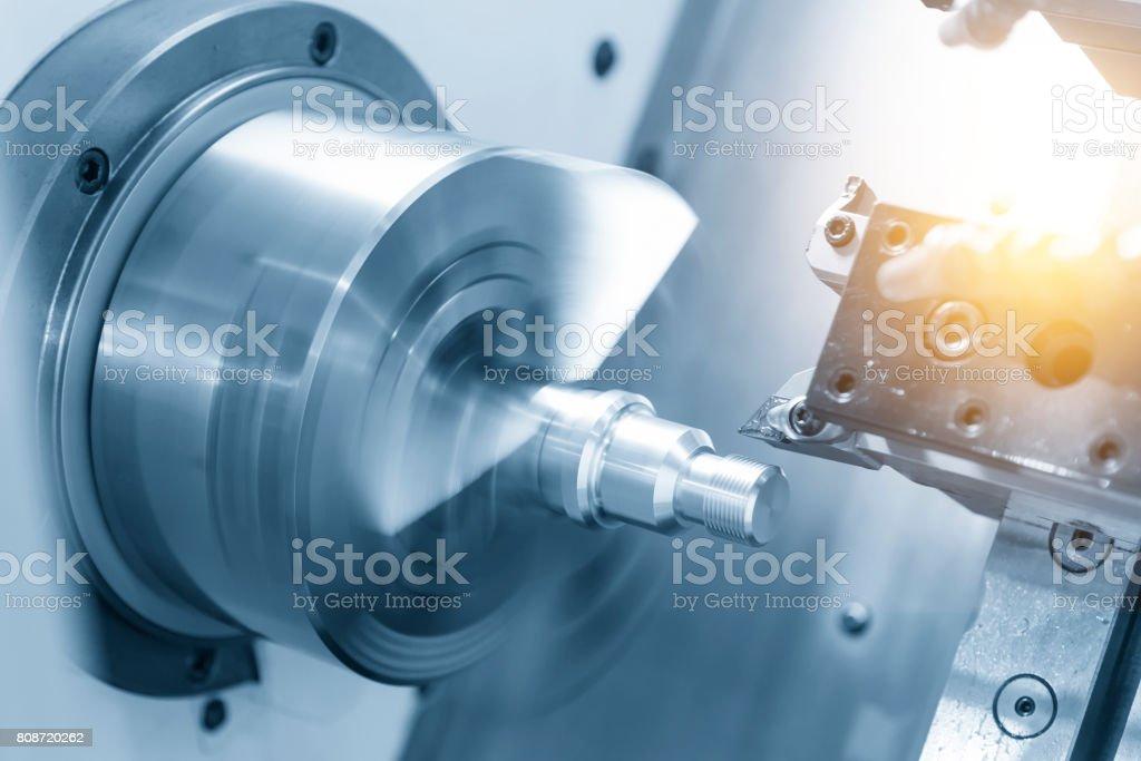 CNC-Drehmaschine (Drehmaschine) - Lizenzfrei Aluminium Stock-Foto