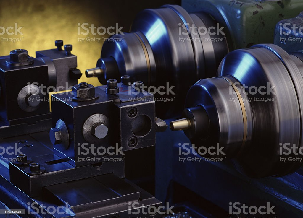 lathe royalty-free stock photo
