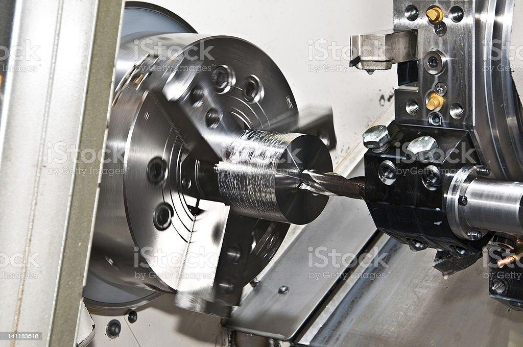 CNC Lathe stock photo