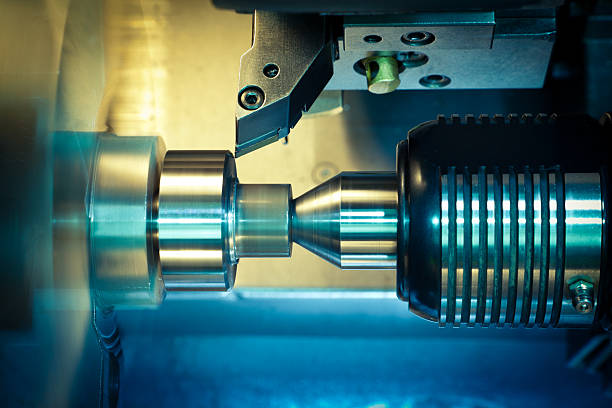 CNC Machine-outil traitement. - Photo