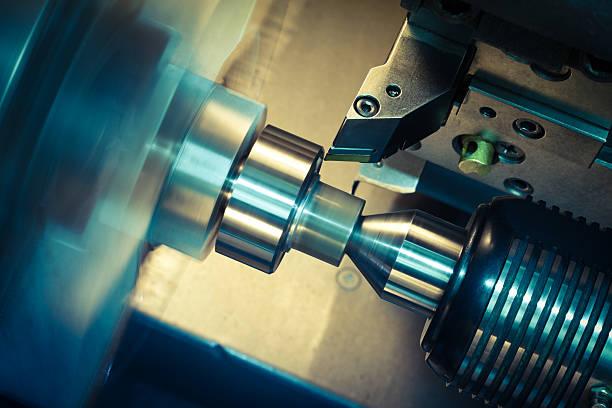 CNC Drehmaschine Verarbeitung. – Foto