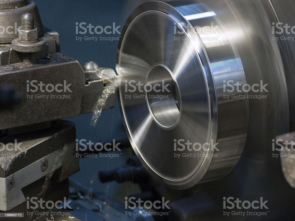 Lathe Turning Stainless Steel 2 stock photo