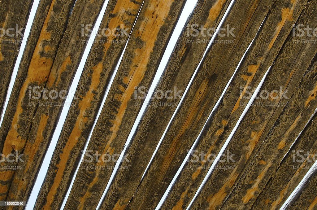 Latilla Roof at Bent's Old Fort National Historic Site stock photo