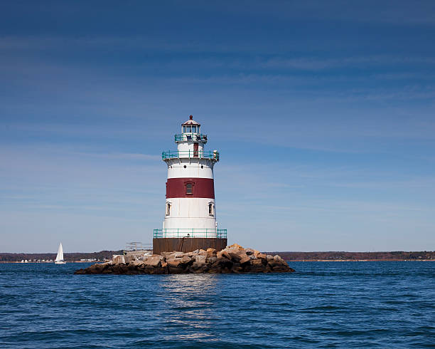 Latimer Reef Lighthouse stock photo