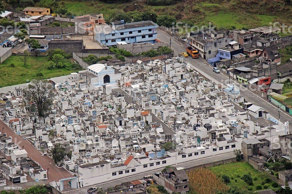 Latin American Cemetery - Baños, Ecuador stock photo