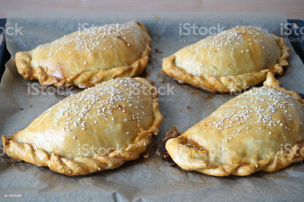 Latin American dish empanada stock photo