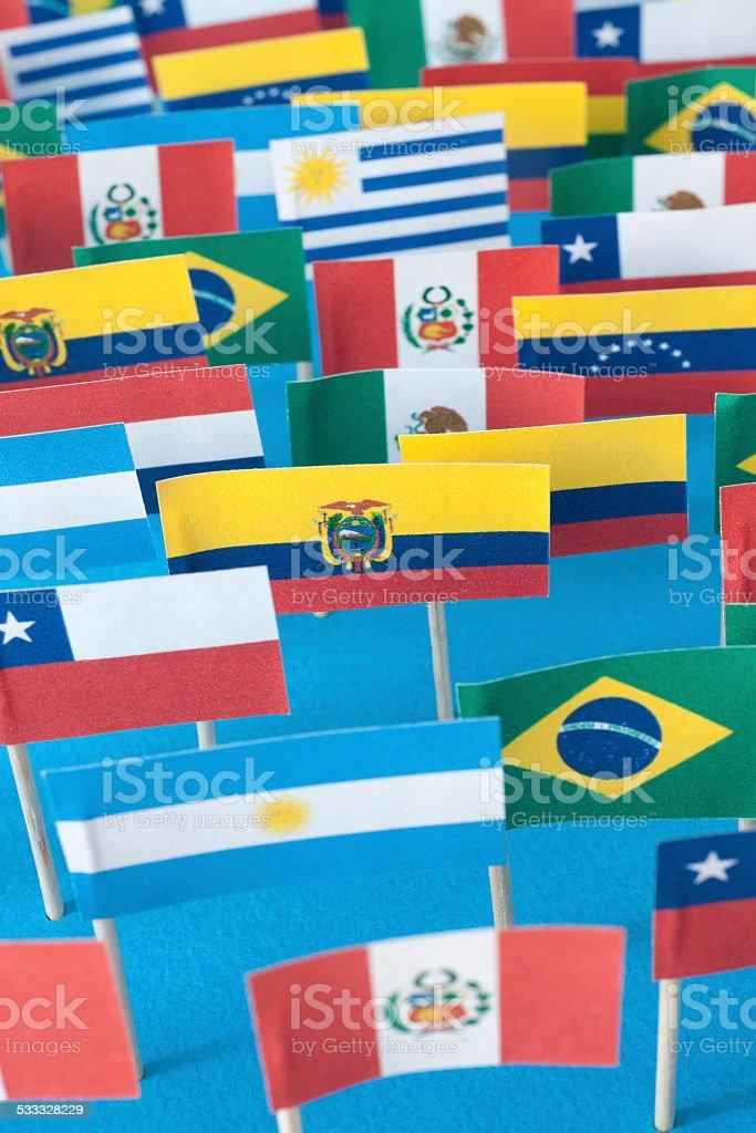 Latin american flags - foto de stock